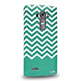 Pin-1 [LG G4] 3D Printed Snap-on Hard Case - Art Fashion Green Glitter Chevron 1219