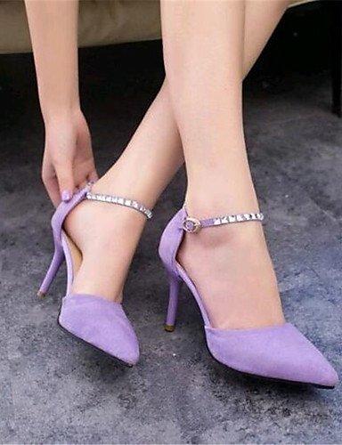 GGX/ Damen-High Heels-Kleid / Party & Festivität-Vlies-Stöckelabsatz-Absätze / Spitzschuh-Schwarz / Gelb / Lila purple-us4-4.5 / eu34 / uk2-2.5 / cn33