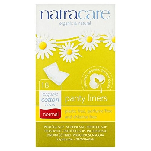 Natracare Organic Normal Cotton Pantyliners Single Wrapped 18 per pack (PACK OF 4)