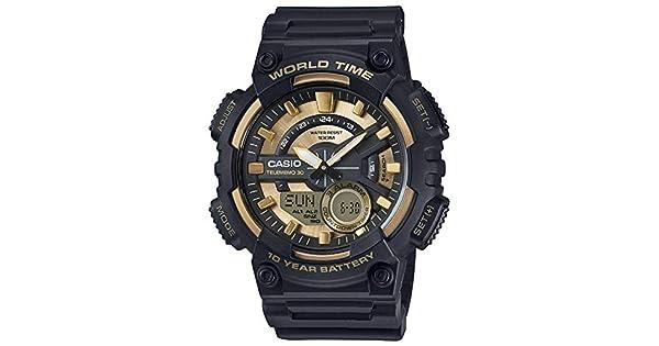 6d9c1b504c4 Relógio Casio Telememo Aeq-110bw-9avdf + Hora Mundial