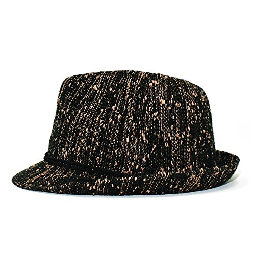 Ladies Knit Fedora Hat (Black)