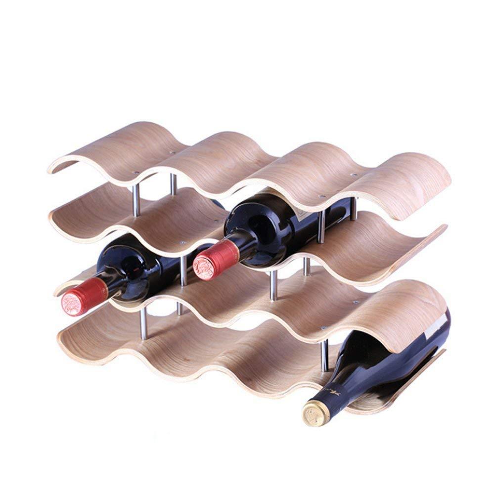 L Bottiglie Onda Del Home Di Vino Cremagliera Forma amp;bw A Barra 12 c534RALjq