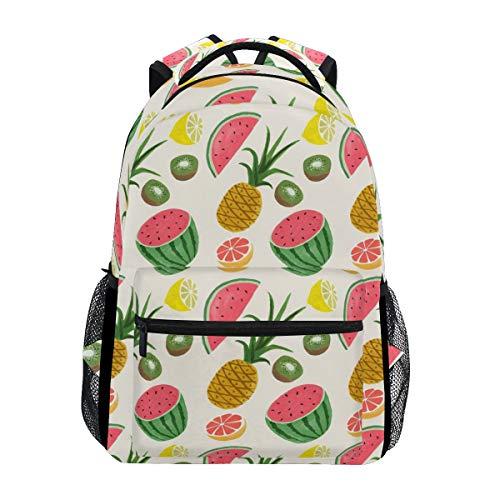 Backpack Pineapple Kiwi Watermelon Lemon Mens Laptop Backpacks Hiking Bag School Daypack