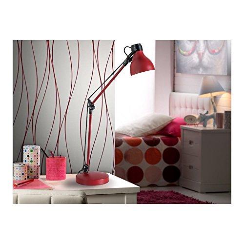 Schuller Spain 475875I4L Traditional Red Adjustable Table Lamp Black 1 Light Living Room, bed room, Study, Bedroom LED, Red Adjustable neck desk lamp | ideas4lighting by Schuller