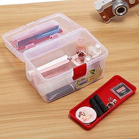 ZhengFei Estuche de plástico multipropósito con manija para Arte y Manualidades, Organizador, tamaño: 25.5 * 17.5 * 15 cm, Color al Azar Impermeables: Amazon.es: Hogar