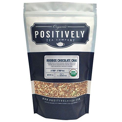Positively Tea Company, Organic Rooibos Chocolate Chai, Rooibos Tea, Loose Leaf, USDA Organic, 1 Pound -