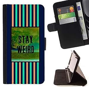 Momo Phone Case / Flip Funda de Cuero Case Cover - Bleu Rose motivation Text - Samsung ALPHA G850