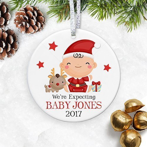 We're Expecting Christmas Ornament 2018, Gender Neutral Pregnancy  Announcement, Baby Shower Gift - Amazon.com: We're Expecting Christmas Ornament 2018, Gender Neutral