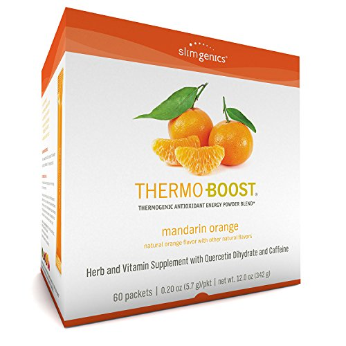 SlimGenics Thermo-Boost | Thermogenic Powder Energy Drink Mix – Antioxidant, Anti-Aging Properties - Metabolism Booster for Weight Loss - Fights Fatigue and Inflammation (Mandarin Orange Flavor)