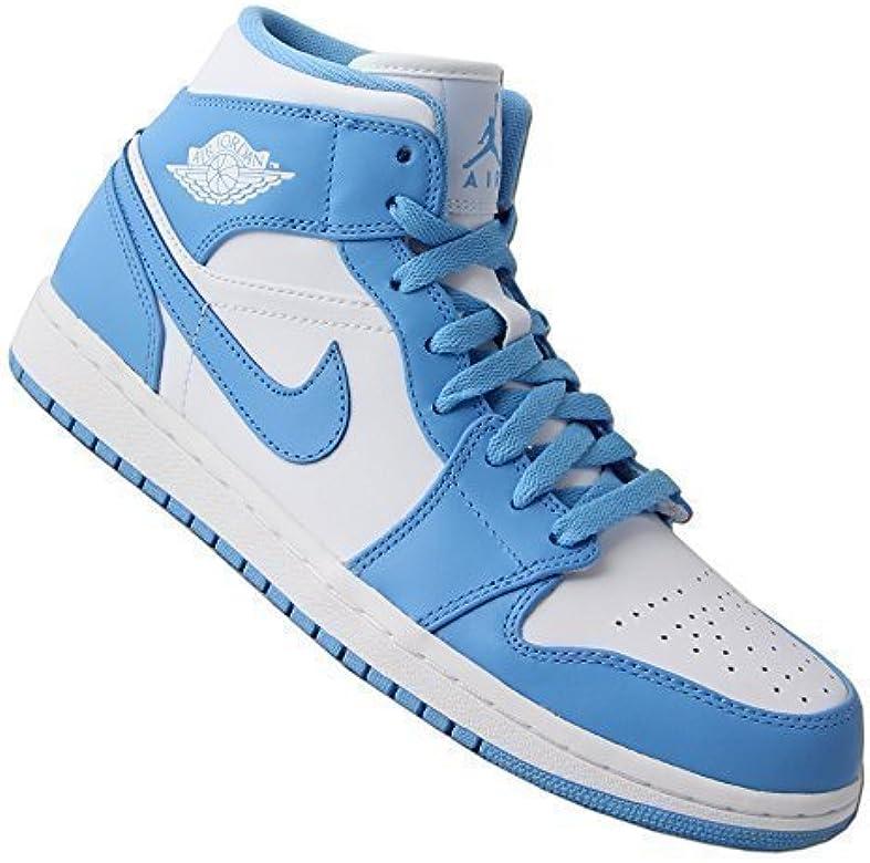 Nike - Zapatillas de caña alta de cuero hombre, color blanco ...