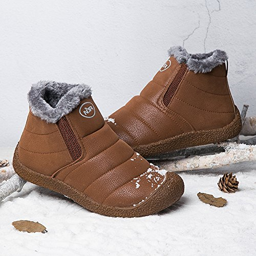 Yellow Anti Boots Gomnear Warm slip Sneaker Men Winter Hiking Snow Unisex Shoes Lightweight Couple Women HqBq6vWw
