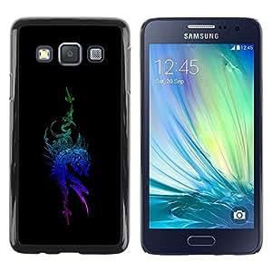 Be Good Phone Accessory // Dura Cáscara cubierta Protectora Caso Carcasa Funda de Protección para Samsung Galaxy A3 SM-A300 // Tribal Blue Dragon