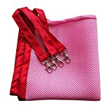 Wildgirl Cute Small Pet Cat Cage Hammock Sleeping Pad Breathable Mesh Hanging Bed (XL - Pink)