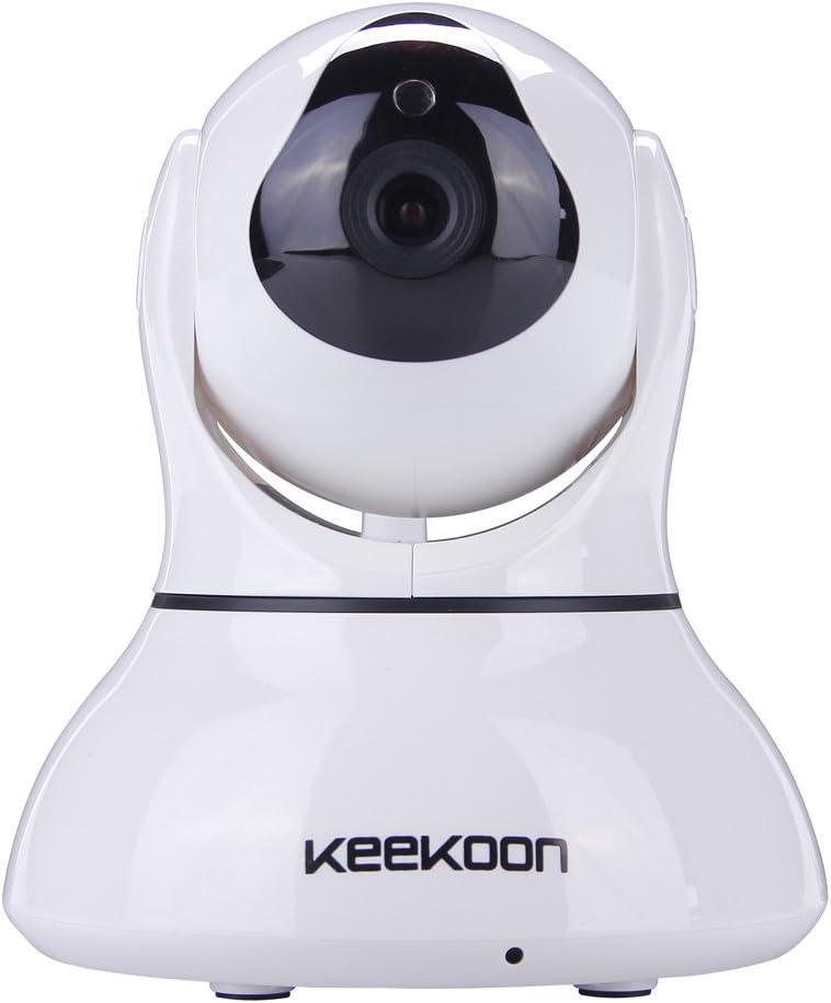 ESTGOUK H.264 720P HD Wireless WiFi IP Kamera, Home Security Surveillance Kamera: Pan / Tilt, Night Version, Zwei Wege Audio, Motion Detective Plug & Play, weiß