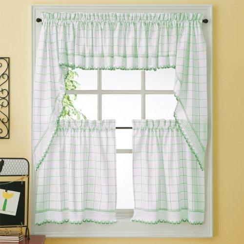 Adirondack Kitchen Curtain - Valance - Jade - Jade Valance