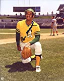 Angel Mangual Autographed/ Original Signed 8x10 Color Glossy Photo w/ Oakland - He Was on Three World Series Championship Teams with the Oakland Athletics in the Early 1970s