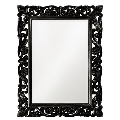Howard Elliott 2113BL Chateau Mirror, Black (Elliott Table Lamp)