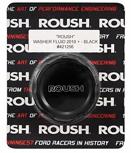 2010-2014 Mustang Black Engraved Billet Washer Fluid Cap ROUSH 421256 ()