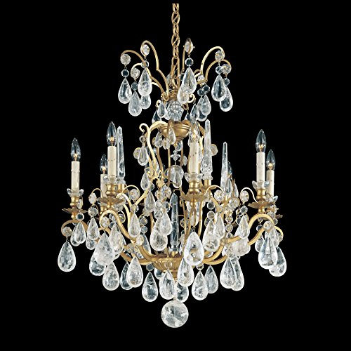 Schonbek 2471-23 Swarovski Lighting Versailles Rock Crystal Chandelier, Etruscan Gold (Gold Versailles Rock Crystal)
