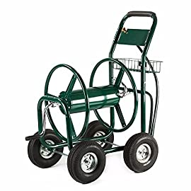 4 wheel garden hose reel cart