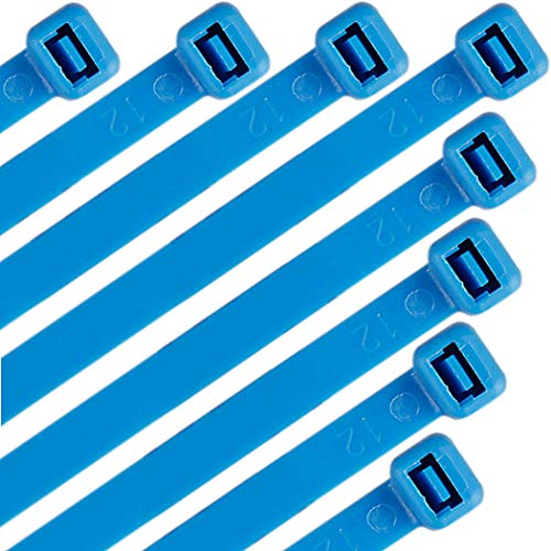 Nylon Cable Zip Ties 16 Inch 120 Pounds Strength - WEEGCN 100 Pcs Heavy Duty Self-Locking Zip Ties Fasten Wrap Nylon Cable Straps Wire Ties for Organizing Wires, Home,Garden & Office Use,Blue