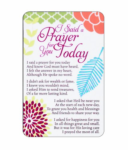 (Pocket Card Bookmark Pack of 12 - I Said a Prayer For You Today)