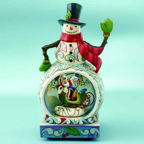 Jim Shore A Winter Wonderland Christmas Disney Stone Resin 10.50-inch