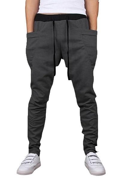 0eeef5ceb Mooncolour Men's New Arrival Casual Jogging Harem Pants (X-Small, Dark Gray)