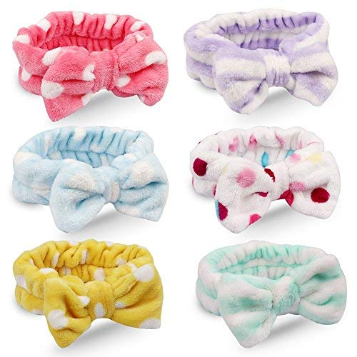 - Jaciya 6 Pack Women Spa Headbands Elastic Headband Hair Band For Women