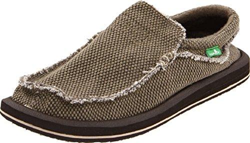 Sanuk Men's Chiba Loafers Brown 11 & Oxy Shoe Cleaner Bundle
