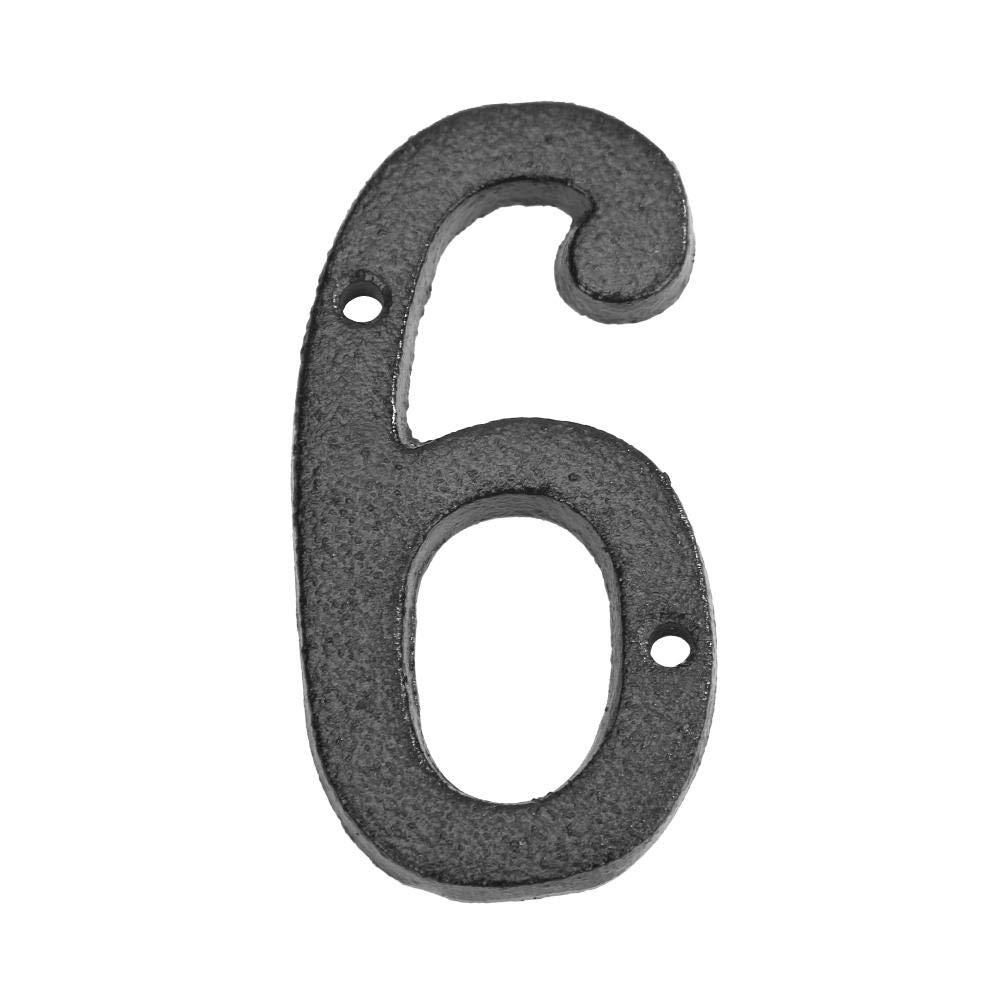 Demiawaking Numeri Civici Esterni 0-9 in Ferro Fai da te Targhe Numeri Civici con Viti di Montaggio Numero 0