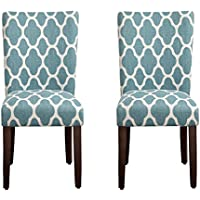 HomePop Geo Brights Parson Chairs (Set of 2)
