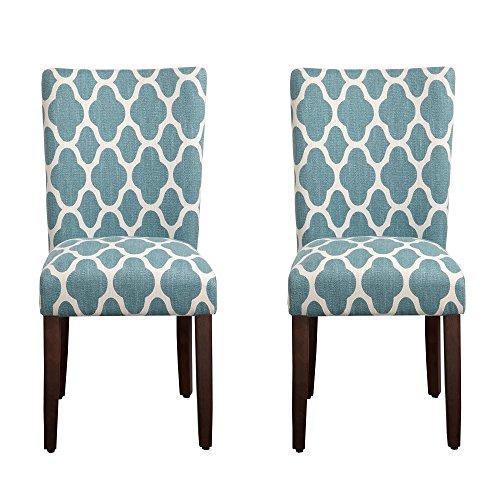 HomePop Geo Brights Parson Chairs (Set of 2)