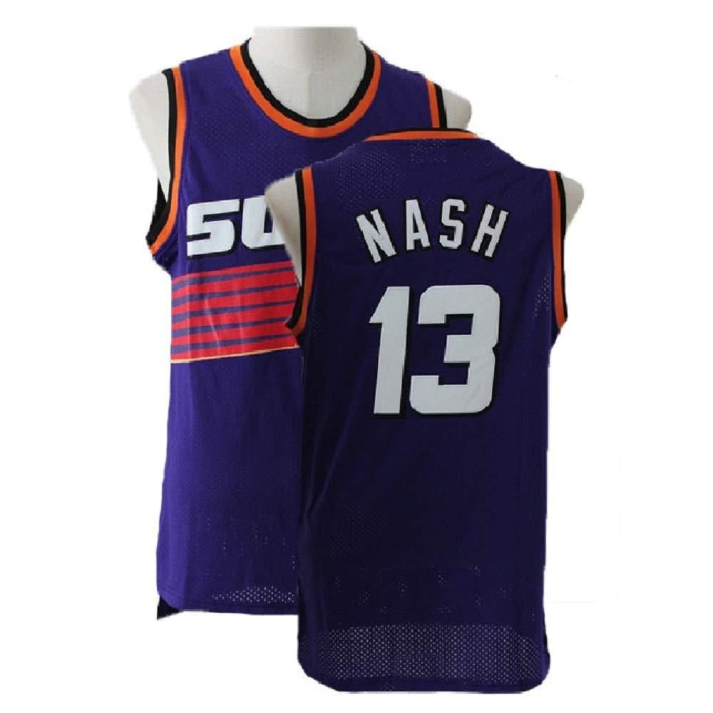3af7caf2cdc Men s Steve Athletics Jersey Nash Jerseys Basketball  13 Purple Jersey