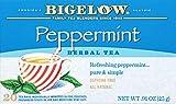 Bigelow Peppermint Herbal Tea 20 Bags (Pack of 6)  Caffeine-Free Individual Herbal Tisane Bags, for Hot Tea or Iced Tea, Drink Plain or Sweetened with Honey or Sugar