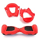"""Scooters Equipment Silicone Case Cover For 6.5"""" 2 Wheels Smart Self Balancing Scooter Hoverboard scooter wheels 6.5"""" models scooter wheels Red"""