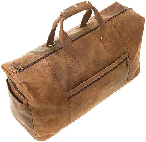 Pelle Bufala Vera Marrone Leabags Sydney Borsa Da Stile Viaggio In Vintage Uw5qxf