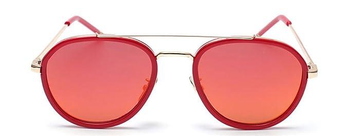 be8fb5856c Amazon.com  GAMT Round Aviator Sunglasses Metal Frame Mirrored Lens ...