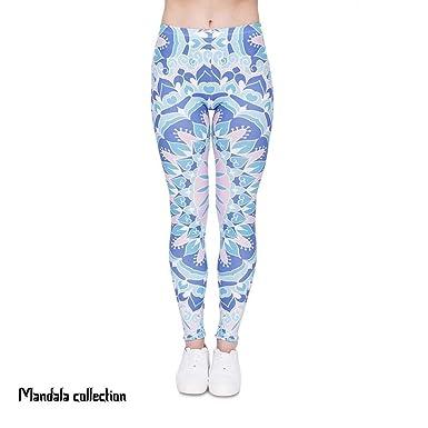Battercake Pantalones De Yoga Mujer Legging Casuales Azul ...