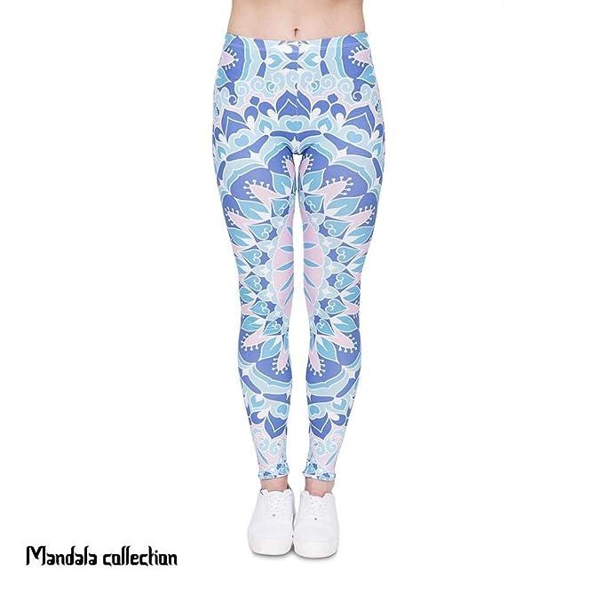 BIRAN Pantalones De Yoga Mujer Legging Mandala Impresión ...