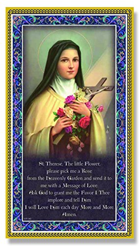 SAINT THERESE Fine Art Italian Plaque With Prayer 5