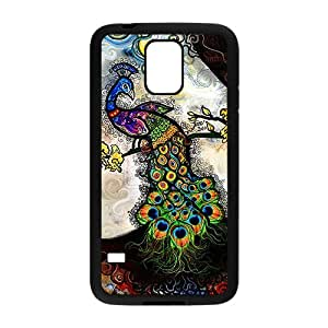 HDSAO Colorful peacock Cell Phone Case for Samsung Galaxy S5