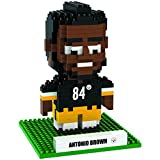 NFL Pittsburgh Steelers Brown A. #84 Mini BRXLZ Player Building Blocks, One Size, Black