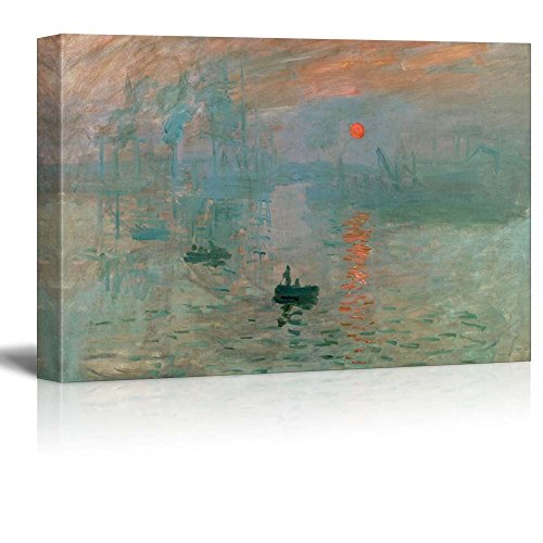 Impression Sunrise by Claude Monet Giclee ped Gallery