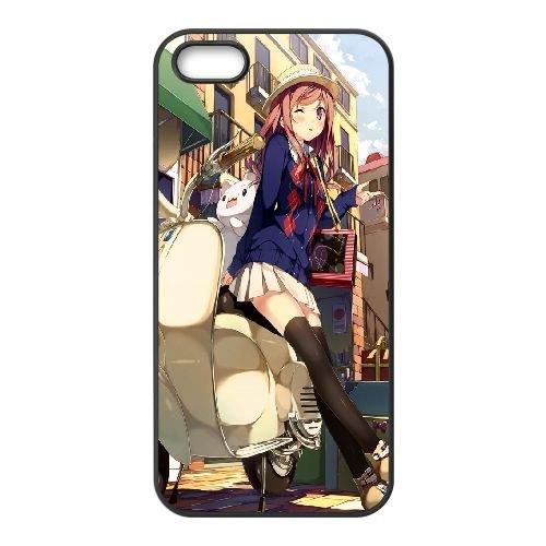 Steel Angel Kurumi Anime coque iPhone 4 4s cellulaire cas coque de téléphone cas téléphone cellulaire noir couvercle EEECBCAAN01467