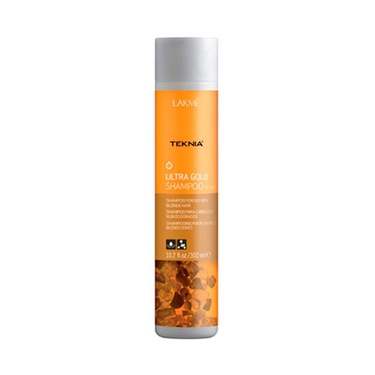 LAKME Teknia Ultra Gold Shampoo, 10.2 Fl Oz