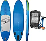 Surftech Skiff Air Travel 10'0 Inflatable Stand Up Paddle Board (iSUP) Package | Includes Travel Back Pack, Fin, High Pressure Dual Action Hand Pump