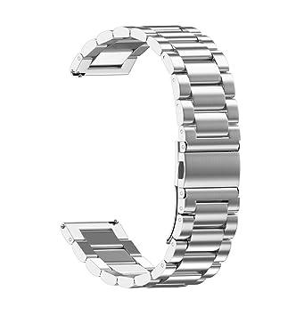 Amazon.com: XBKPLO - Correa de reloj de acero inoxidable con ...