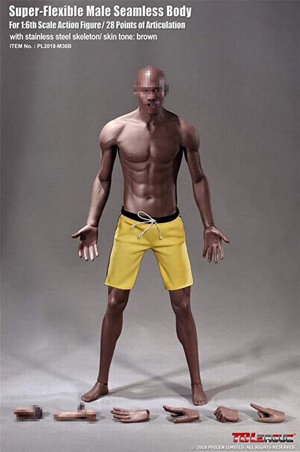 """1:6 Scale Plastic Bare Foot Feet Model Fit 12/"""" Enterbay Male Action Figure Body"""