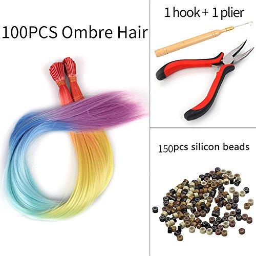 SARLA Synthetic Ombre Hair Extension 16